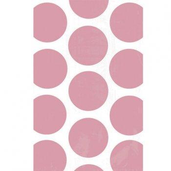 10 Sacs papier Pois Rose