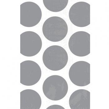 10 Sacs papier Pois Argent