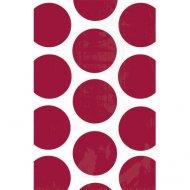10 Sacs papier Pois Rouge