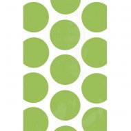 10 Sacs papier Pois Vert