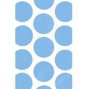 10 Sacs papier Pois Bleu caraïbe