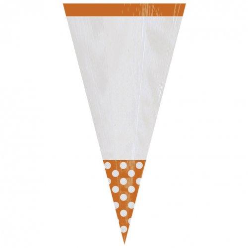 10 Sacs cônes Pois orange