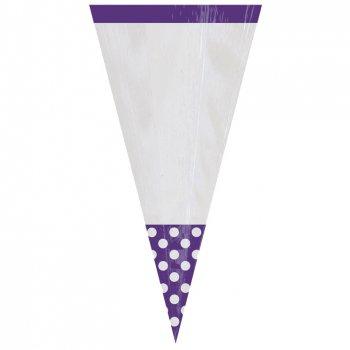 10 Sacs cônes Pois Violet