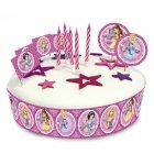 Kit de d�co G�teau Princesses Glamour
