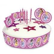 Kit de déco Gâteau Princesses Glamour