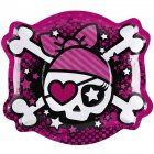 6 Grandes Assiettes Pink Pirate