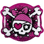 6 Grandes Assiettes Pink Pirate
