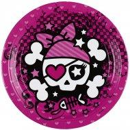 8 Petites assiettes Pink Pirate