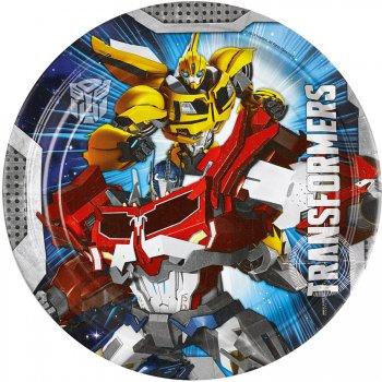 8 Assiettes Transformers 4