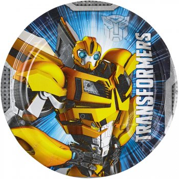 8 Petites assiettes Transformers 4