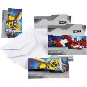 6 Invitations Transformers 4