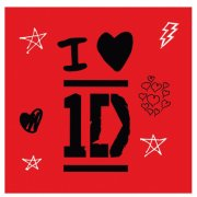 16 Serviettes One Direction