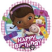 Ballon H�lium Dr La Peluche Happy Birthday