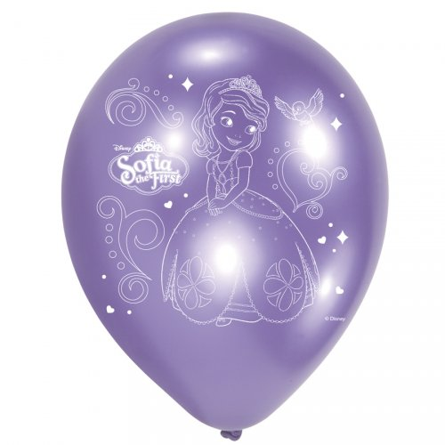 6 Ballons Princesse Sofia