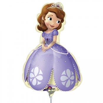 Ballon sur tige Princesse Sofia