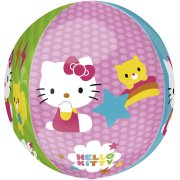 Ballon orbz Gonflé à l'Hélium Hello Kitty