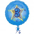 Ballon H�lium 3 ans Star