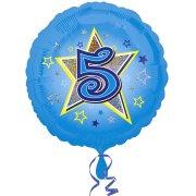 Ballon Hélium 5 ans Star