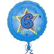 Ballon Gonflé à l'Hélium 6 ans Star