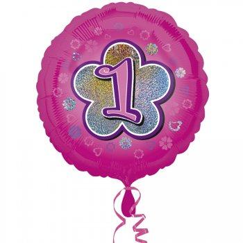 Ballon Hélium Pink Flowers 1 an