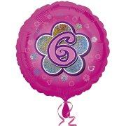 Ballon Hélium Pink Flowers 6 ans