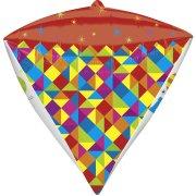 Ballon géant Happy Birthday Diamant