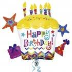 Ballon G�ant G�teau Happy Birthday