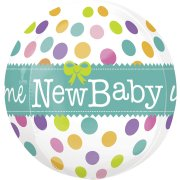 Ballon orbz Gonflé à l'Hélium New Baby