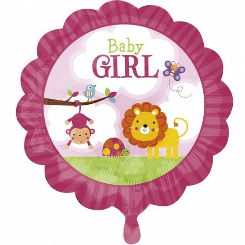 Ballon Hélium Baby Girl Safari