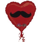 Ballon H�lium Coeur Moustache