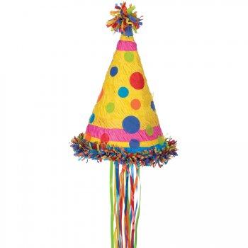 Pinata Chapeau d anniversaire Polka