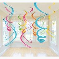 12 Guirlandes Spirales 5 couleurs