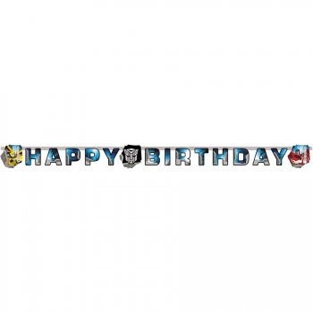Guirlande lettres Happy Birthday Transformers 4