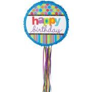 Pull Pinata dépliable Happy Birthday Polka