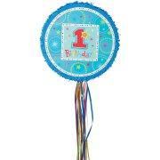 Pull Pinata 1rst Birthday bleu D�pliable