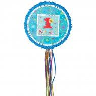 Pull Pinata 1rst Birthday bleu Dépliable