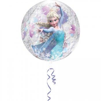 Ballon Orbz à Plat Elsa La Reine des Neiges Crystal