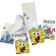 6 Invitations Bob L'Eponge 2