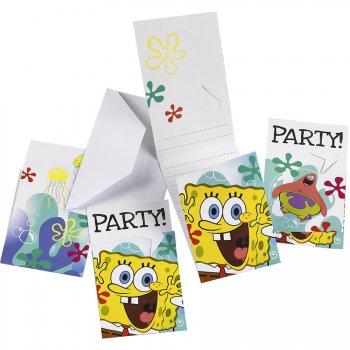 6 Invitations Bob L Eponge 2
