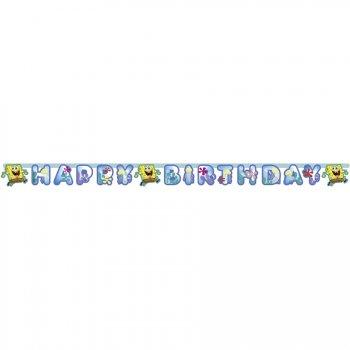 Guirlande lettres Happy Birthay Bob L Eponge 2
