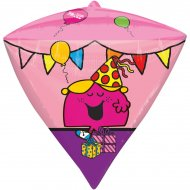 Ballon Hélium Monsieur Madame Diamant