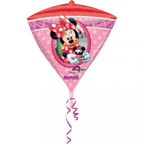 Ballon Gonflé à l Hélium Minnie Diamant