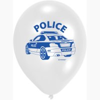 Contient : 1 x 6 Ballons Police