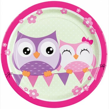8 Assiettes Sweet Hiboux