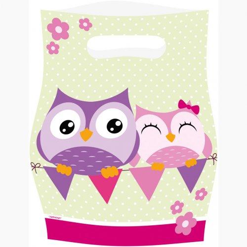 8 Pochettes Cadeaux Sweet Hiboux