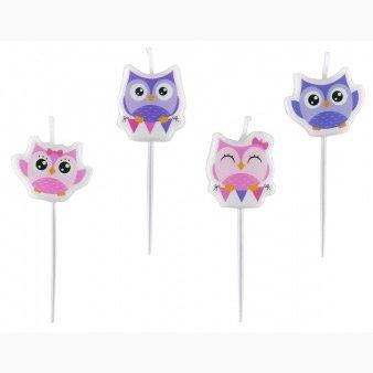 4 mini Bougies Sweet Hiboux
