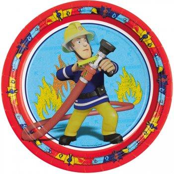 8 Assiettes Sam le Pompier