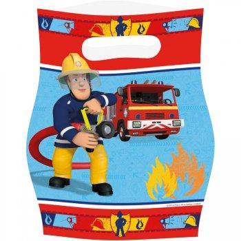 8 pochettes cadeaux sam le pompier pour l 39 anniversaire de votre enfant annikids. Black Bedroom Furniture Sets. Home Design Ideas