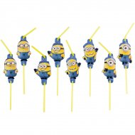 8 Pailles Minions