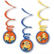 6 Guirlandes Spirales Minions